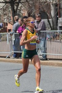 Rene Kalmer in the 2013 Boston Marathon. Photo by Clay Shaw